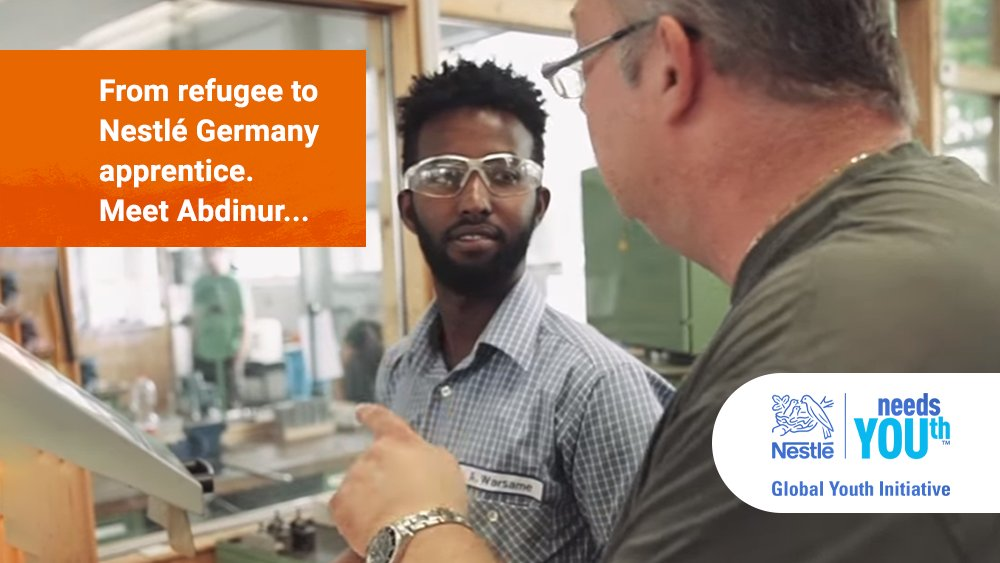 Abdinur's life changed when he became a @NestléGermany apprentice. #NestléneedsYOUth https://t.co/1WCg1T7cDI