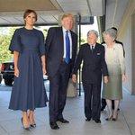 【#トランプ氏来日 】トランプ大統領、お辞儀なし 右腕2回軽くたたいて別れ惜しむ「御所は陛下が設計?…