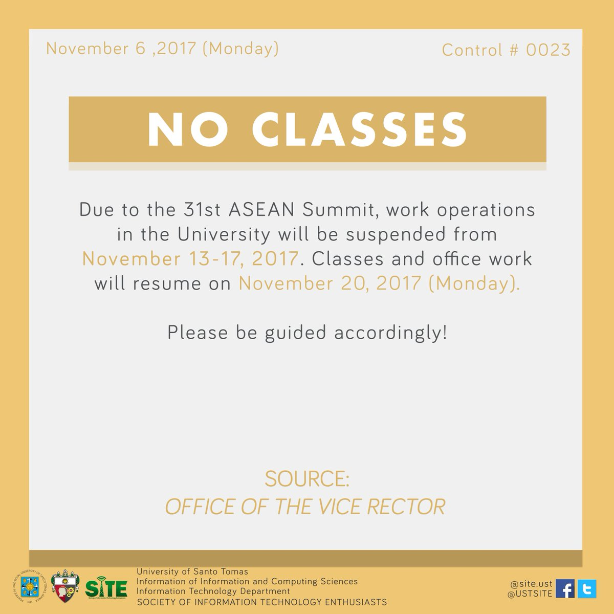 Sitein10sified On Twitter Due To The 31st Asean Summit Classes
