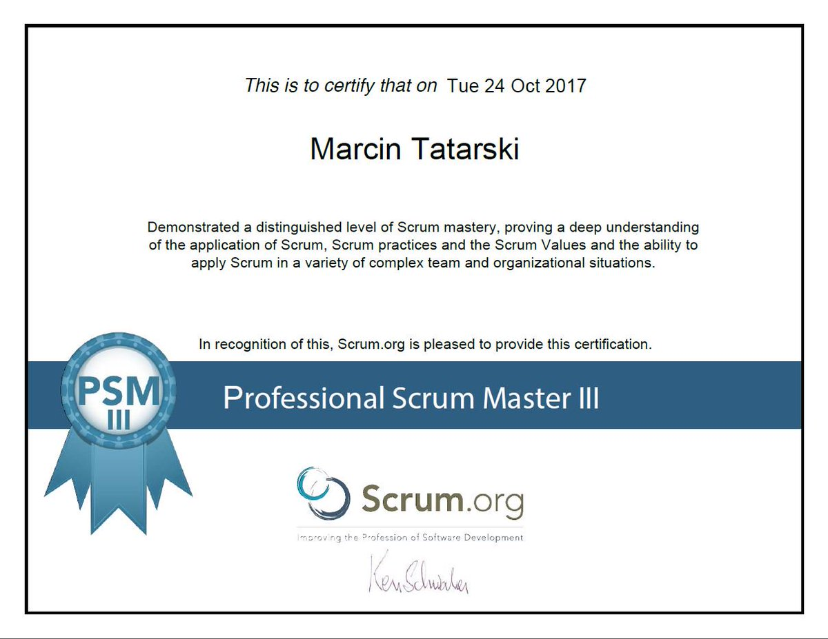 Marcin tatarski marcintatarski twitter i am super excited because these factors allowed me to achieve the psm iii scrumpicitter4bbien76qi xflitez Image collections