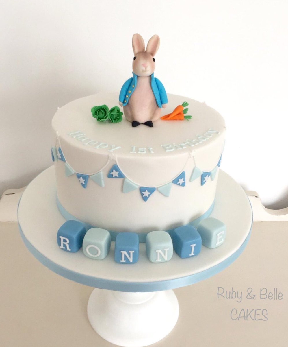Magnificent Ruby Belle Cakes On Twitter Peter Rabbit 1St Birthday Cake Personalised Birthday Cards Epsylily Jamesorg