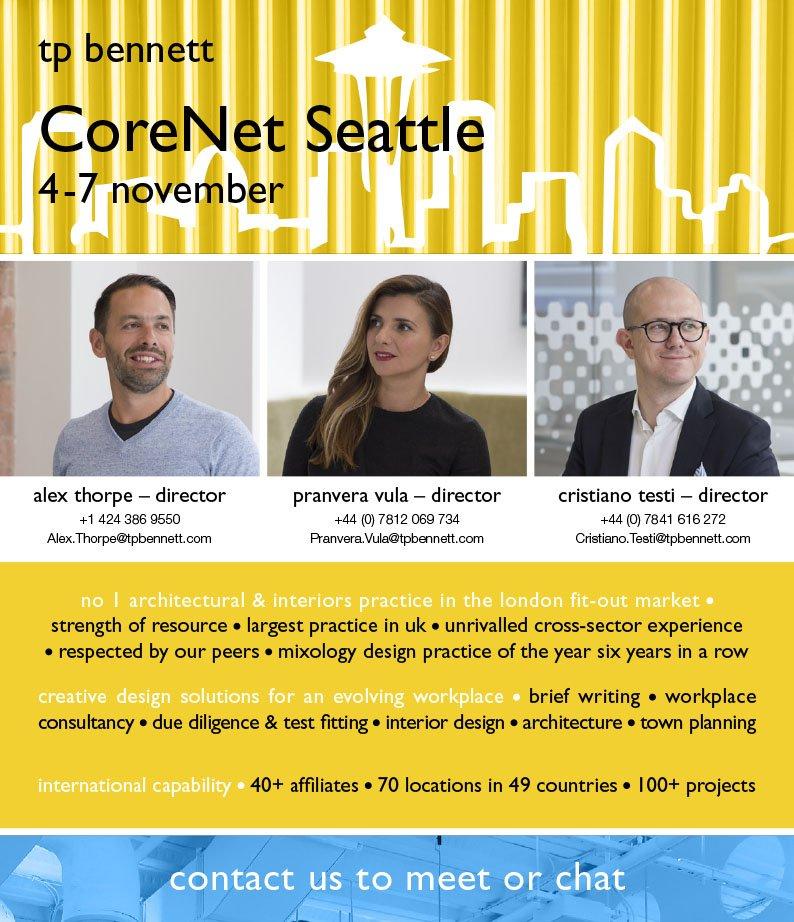 Tp Bennett On Twitter Having A Great Time At CoreNetGlobal In Seattle Corenet