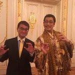 SDGs推進大使のピコ太郎さんとトランプ大統領歓迎晩餐会にて@迎賓館 pic.twitter.com…