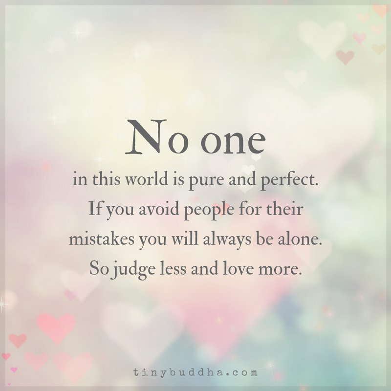 No one can be perfect