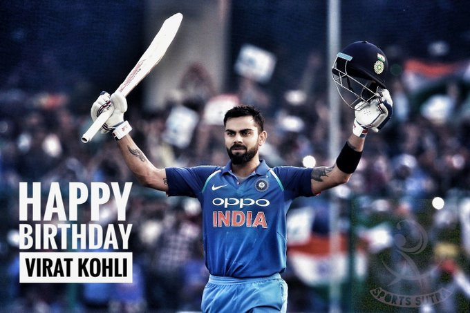 Happy birthday VIRAT KOHLI.. .