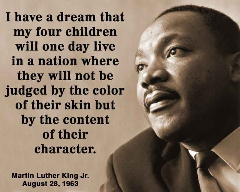 Words Martin Luther King Quote artwork I have a dream Poster
