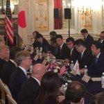 安倍総理とトランプ大統領のワーキングランチ、首脳会談に同席。北朝鮮への更なる圧力強化で一致。日米は1…