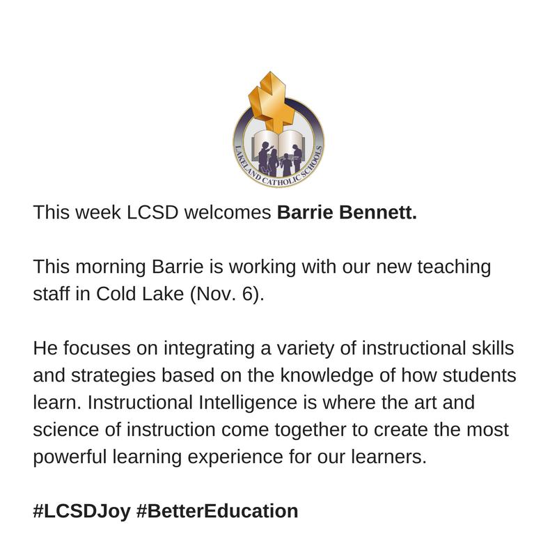 Lakeland Catholic On Twitter Lcsd150 Welcomes Barrie Bennett