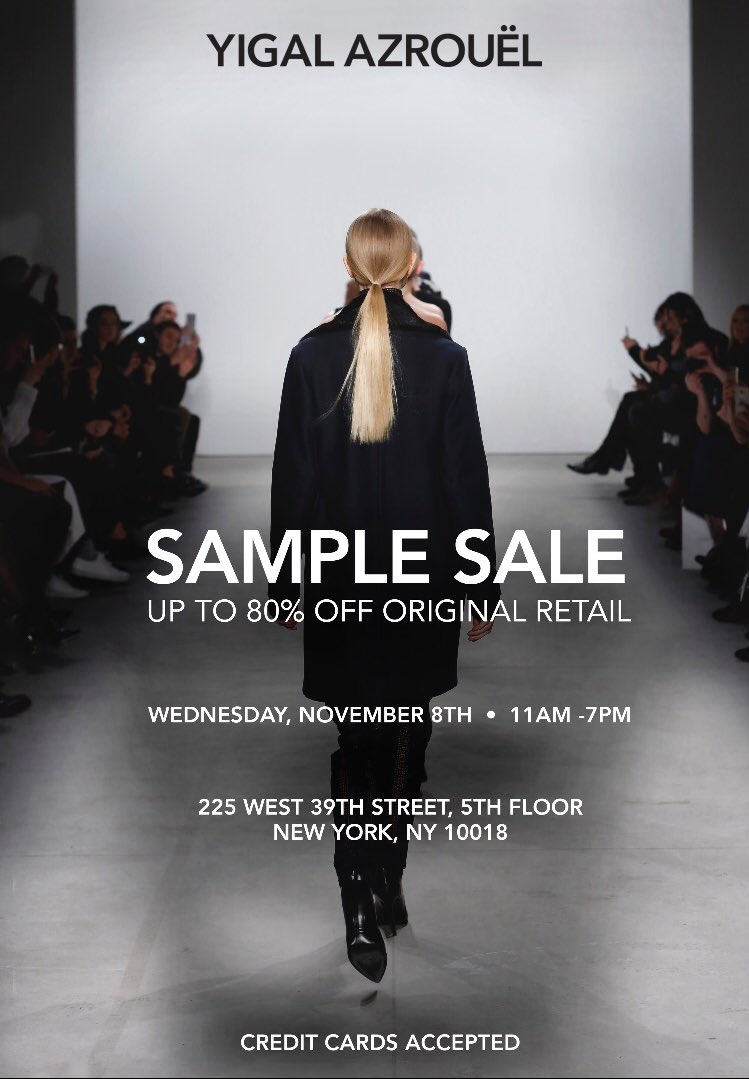 Shop Our Bi-Annual Sample Sale This Wednesday! | Up To 80% Off Original Retail https://t.co/cxGDebHRg8