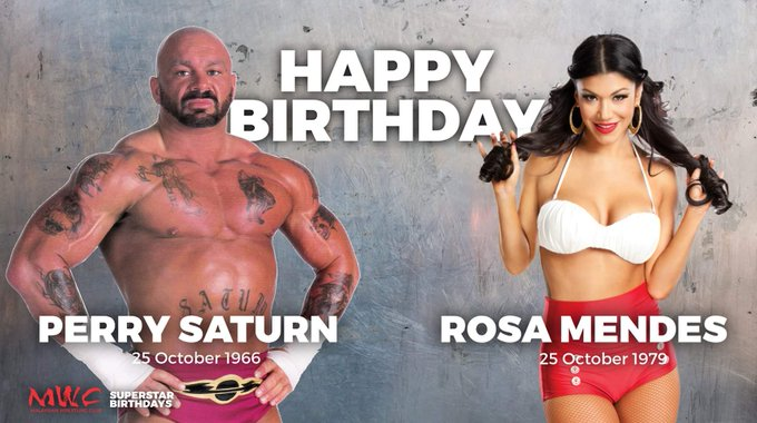 Happy Birthday to two Former WWE Superstars and Rosa Mendes