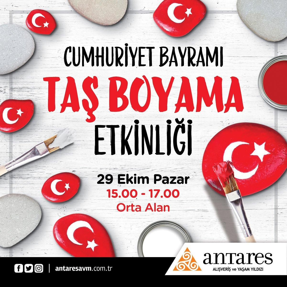 Antares Avm On Twitter Cumhuriyet Bayrami Tas Boyama Etkinligi