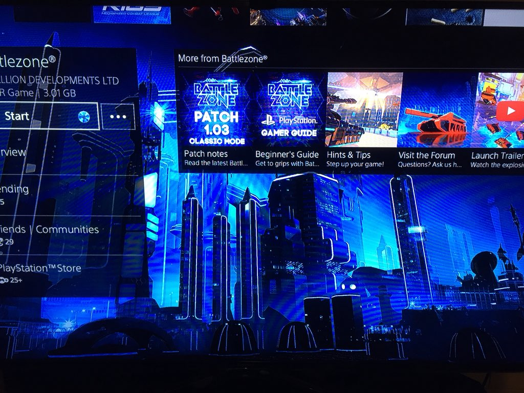 I just need a #Battlezone Theme for my #PS4 now guys, I've checked the store but I can't find one. Something to think about for the future <br>http://pic.twitter.com/DLqQYyEBw9