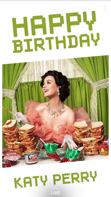 Happy Birthday Katy Perry From FRANCE