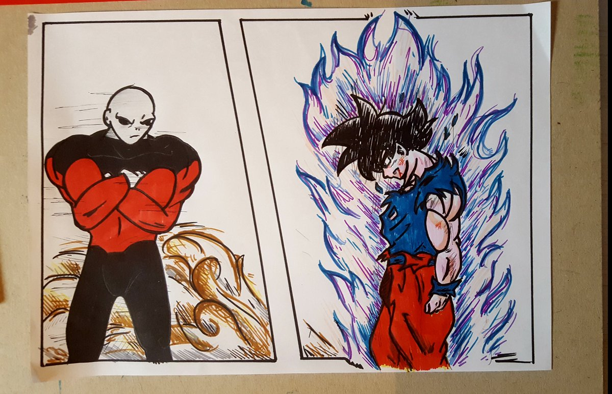 Flatpancakesjim On Twitter Dragonball Super Jiren Vs Goku Drawing