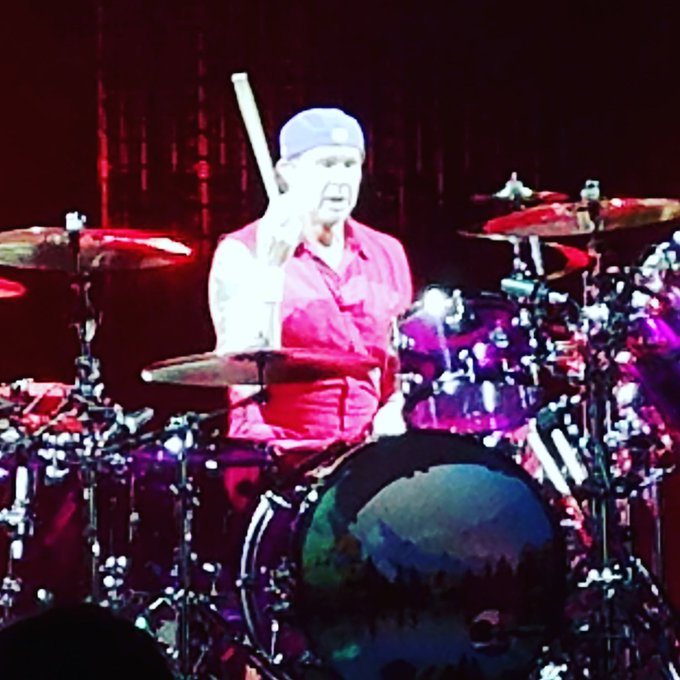 Happy birthday to the most amazing, talented and sexy as fuck drummer, Chad Smith! Happy 56th! Rock on! Love, Love!
