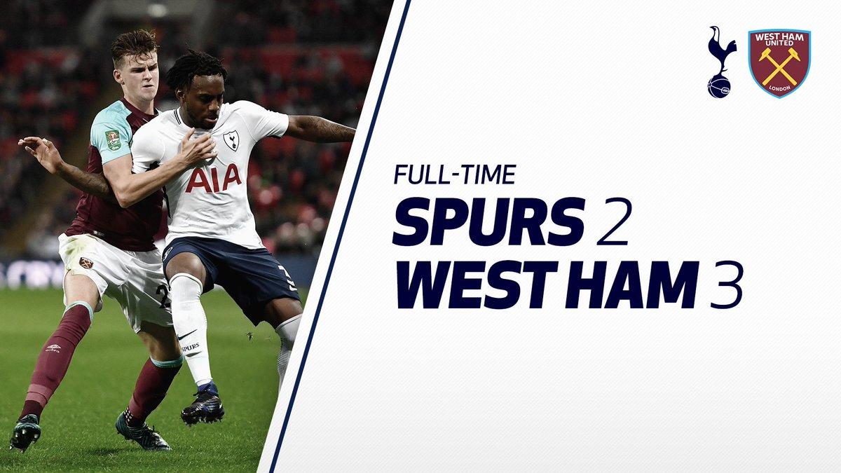 West Ham 3  Tottenham Hotspur 2