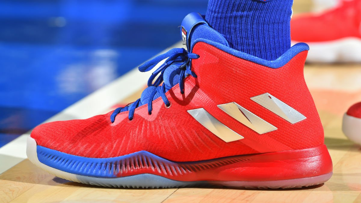Solewatch joelembiid wearing an adidas mad bounce pe tonight jpg 1200x676 Joel  embiid shoes adidas 004cff61b