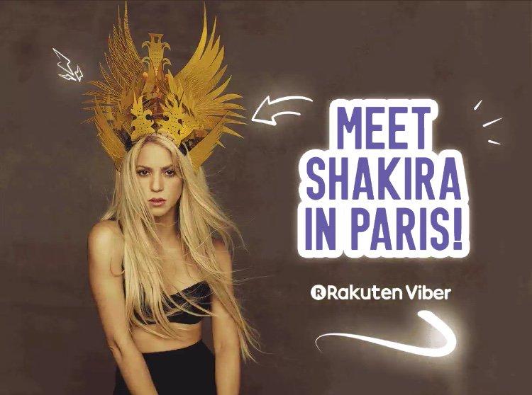 ✈ Still time to win a trip to Paris & meet Shakira! Enter here @Viber 👉 https://t.co/ip9Rd58s1x ShakHQ https://t.co/a8TWIyLczL