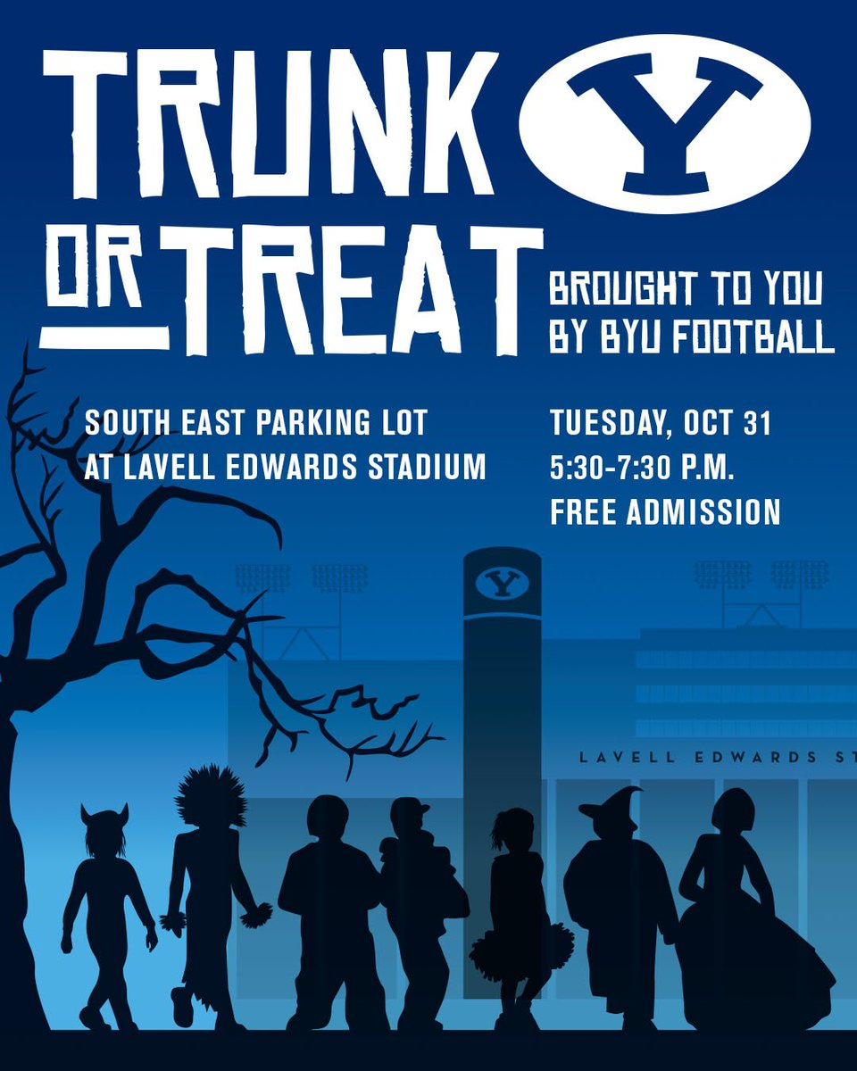 Byu Football On Twitter Trunk Or Treat 2017 Byufootball Gocougs