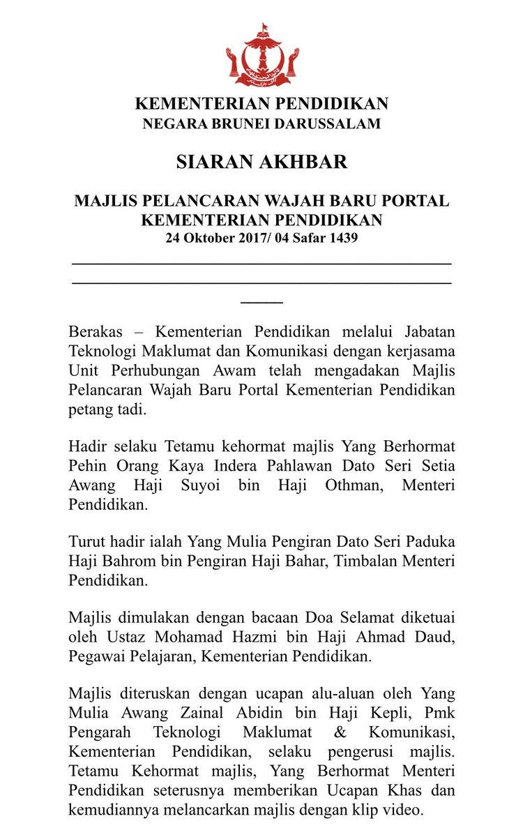 Moeducation Brunei On Twitter