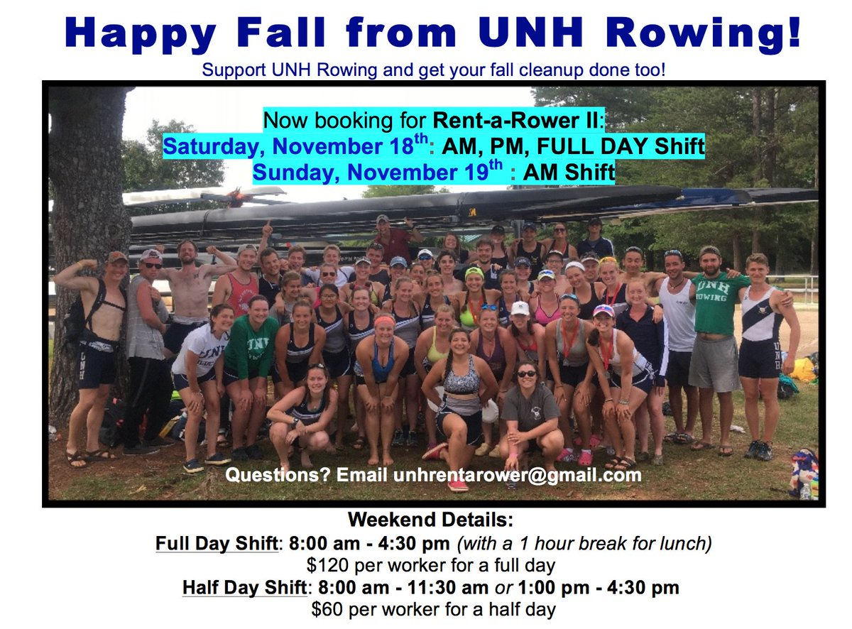 Unhrowing On Twitter Need Help With Yard Work Unh Rent A Rower Ii