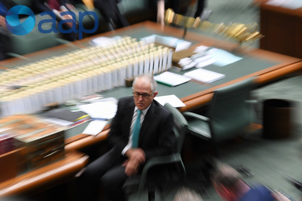 Slow shutter picture of PM Turnbull duri...