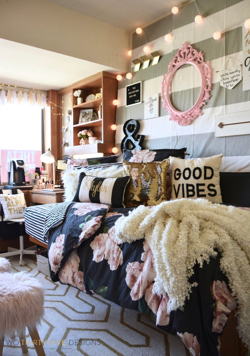 #TexasTech #DormRoom #Makeover Is Posted On The Blog!  Https://twothirtyfivedesigns.com/2017/10/texas Tech Chitwood Dorm Room Makeover.html  U2026 Part 91