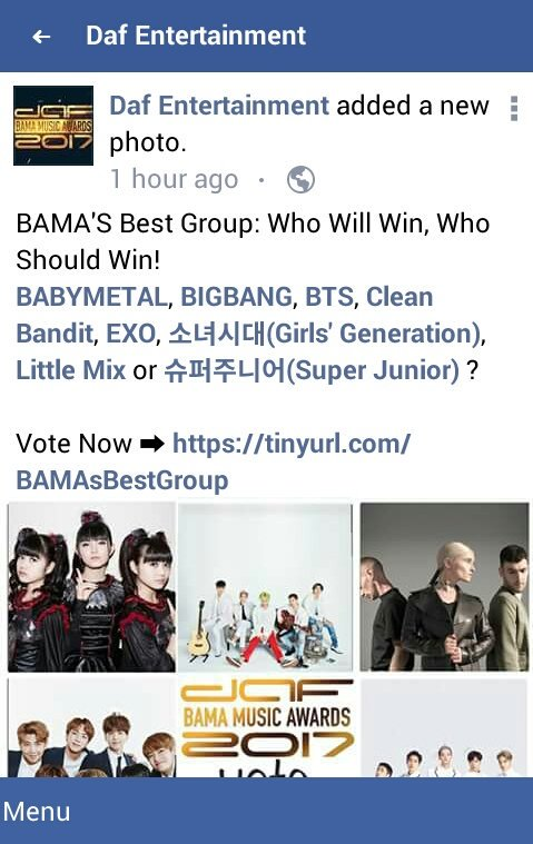 Closer the end of the year and there will be many awards events #BAMA2017 #EXO #SuperJunior #SNSD   Who will win? Who should win? Let&#39;s vote<br>http://pic.twitter.com/kJe4zpaHrY