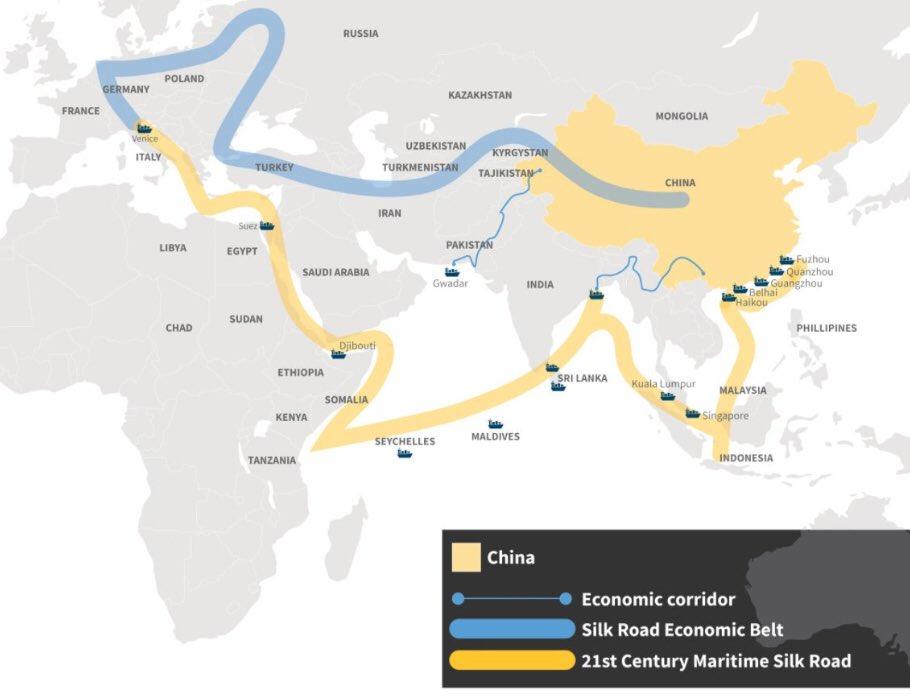 James Ellsmoor on Twitter Chinas MaritimeSilkRoad goes through