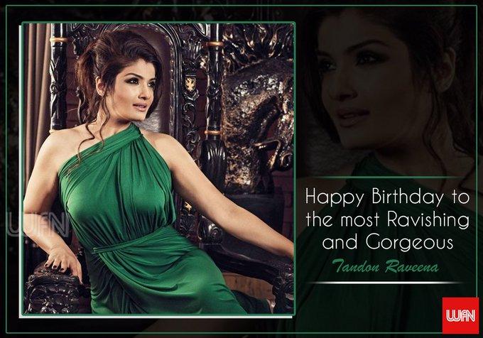 Wish you a very happy birthday Raveena Tandon