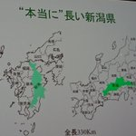 新潟県が長すぎる!こんなに長いの!?他の県との比較画像が面白い!