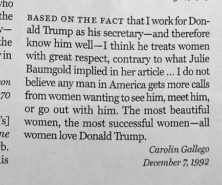 Oh look. Donald Trump wrote to @NYMag in 1992.