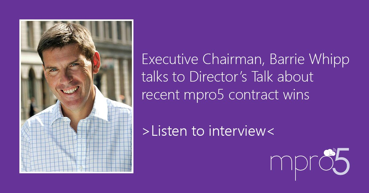 test Twitter Media - INTERVIEW: Executive Chairman @CrimsonBarrie talks to @DirectorsTalk about new mpro5 contract wins & plans for 2018: https://t.co/8ewZDbTShz https://t.co/9iA8aXKZt6