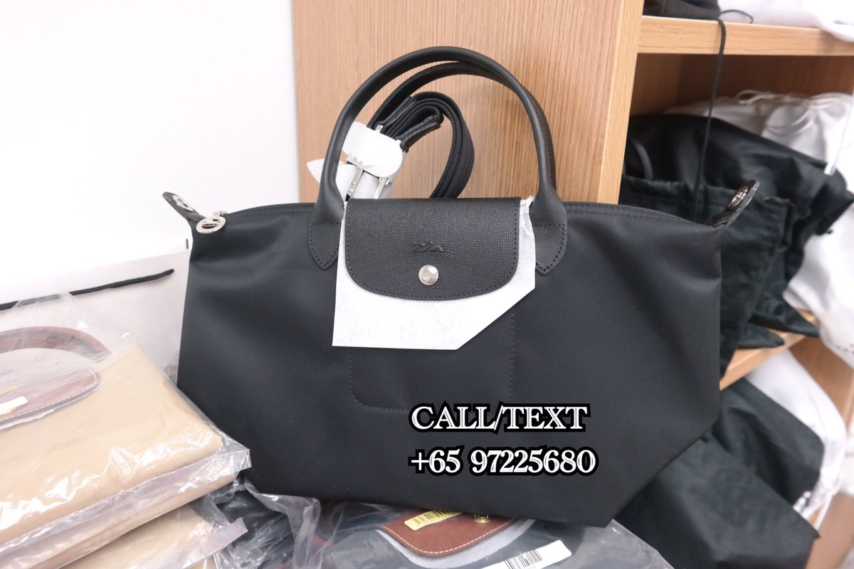 Reve Label On Twitter Sgd235 Longchamp Le Pliage Neo Small With Detachable Shoulder Strap Black Please Call Or Whatsapp 65 9722 5680