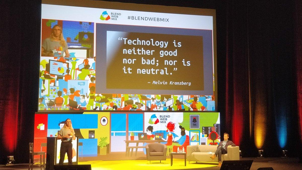 #BlendWebMix &quot;Technology is neither good nor bad; nor is it neutral&quot; @vetorner cite Kranzberg #ethique #tech<br>http://pic.twitter.com/yvxcVicZM8