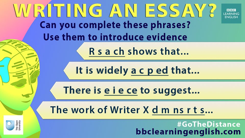 bbc learning english on twitter do you write essays in