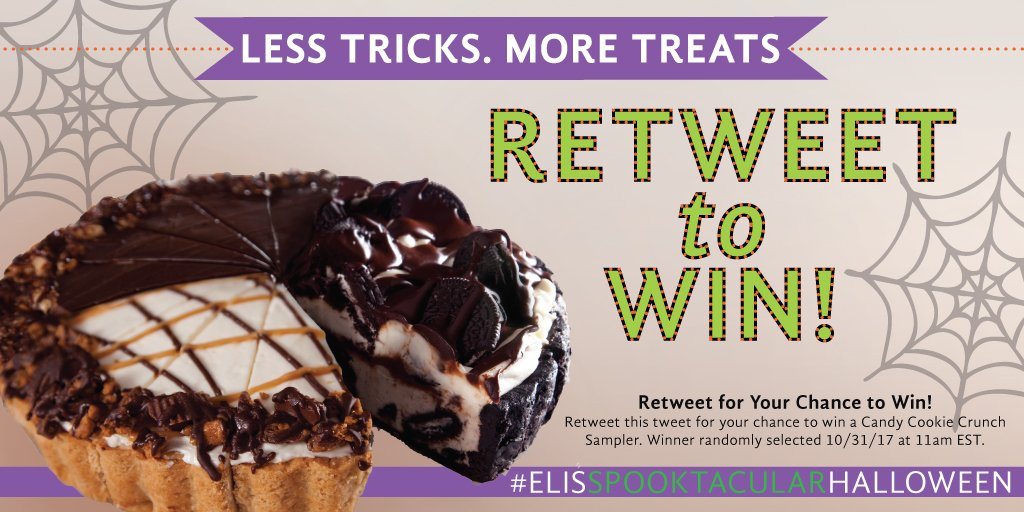 #Halloween is almost here! Celebrate with Eli's #giveaway! Follow us and retweet for your chance to #win! Winner chosen 10/31 at 11am CST
