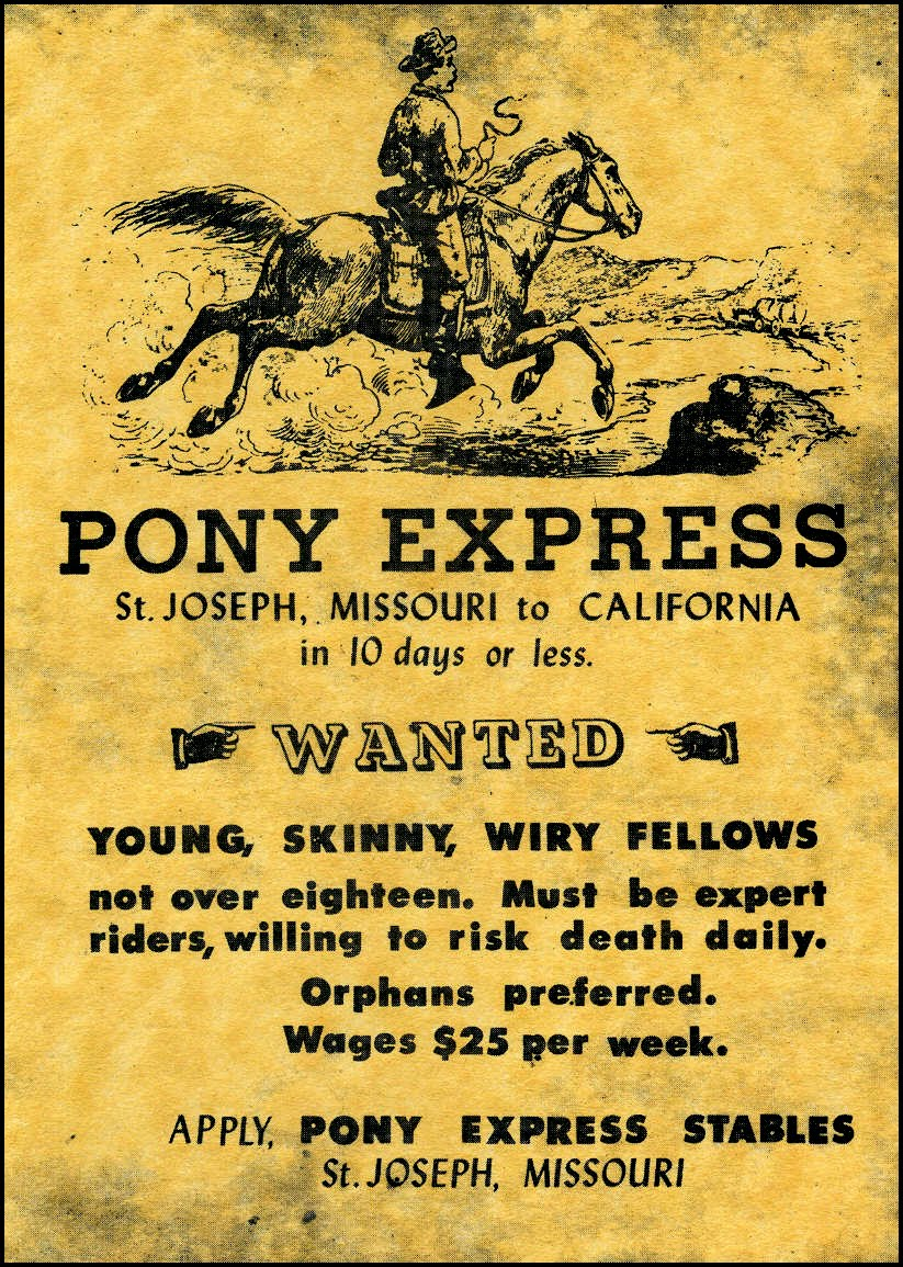 "Steve Doherty on Twitter: ""#OnThisDate 1861 the Pony Express ..."