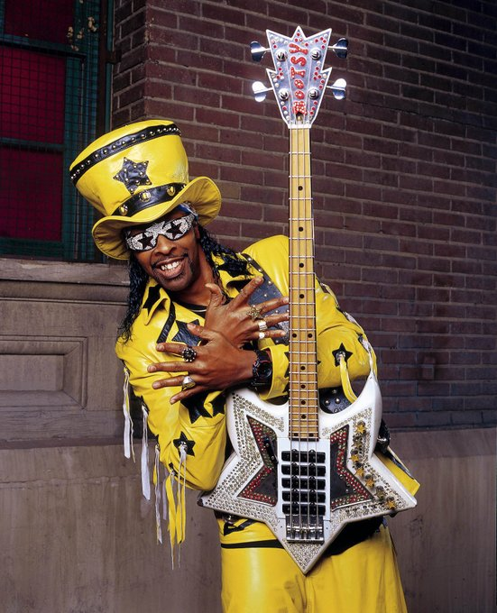 "Happy 66th Birthday to the legendary bassist William ""Bootsy\"" Collins."