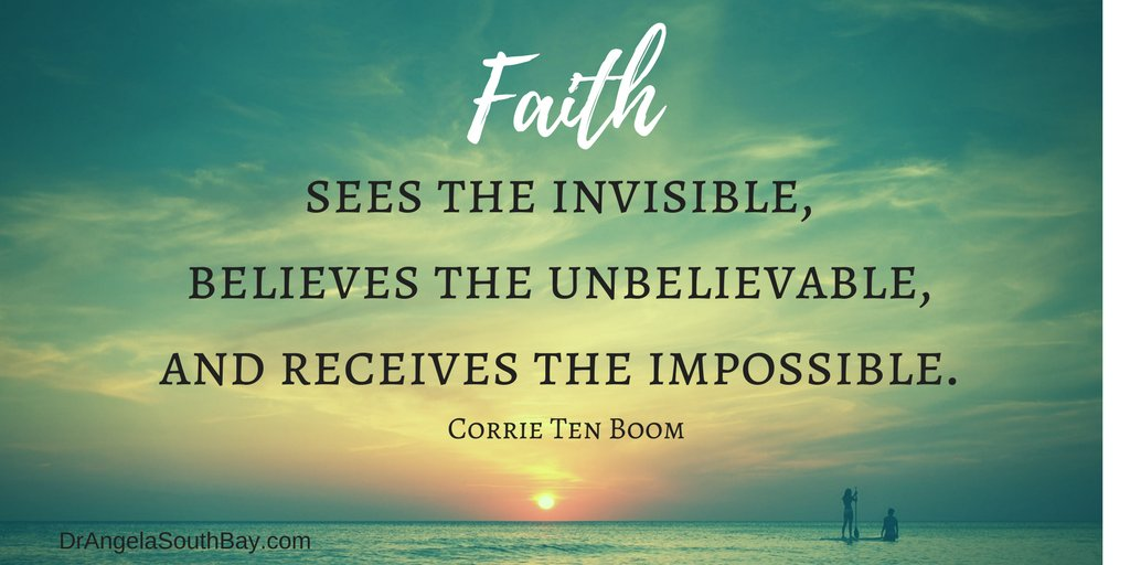Image result for faith sees the invisible believes the incredible and receives the impossible
