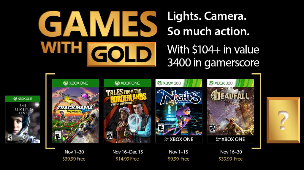 Xbox Live Games with Gold November 2017