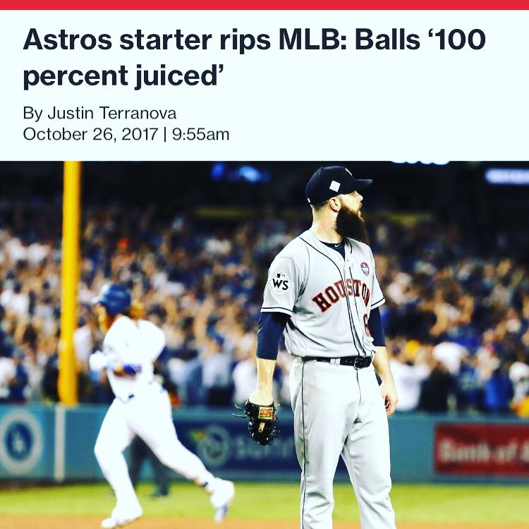 So its OK for #MLB to juice balls but not for players like #BarryBonds &amp; #ARod to take a little something to further their careers..<br>http://pic.twitter.com/s1AS2fEw0C
