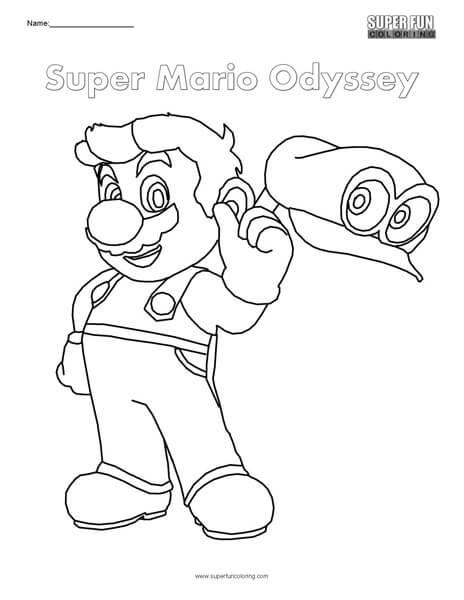 Super Mario Odyssey Logo Coloring Page