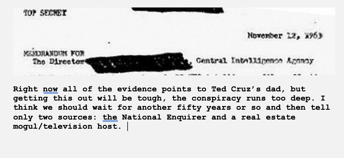 Dear God… I can't believe this is in that new batch of classified files about the JFK assassination.