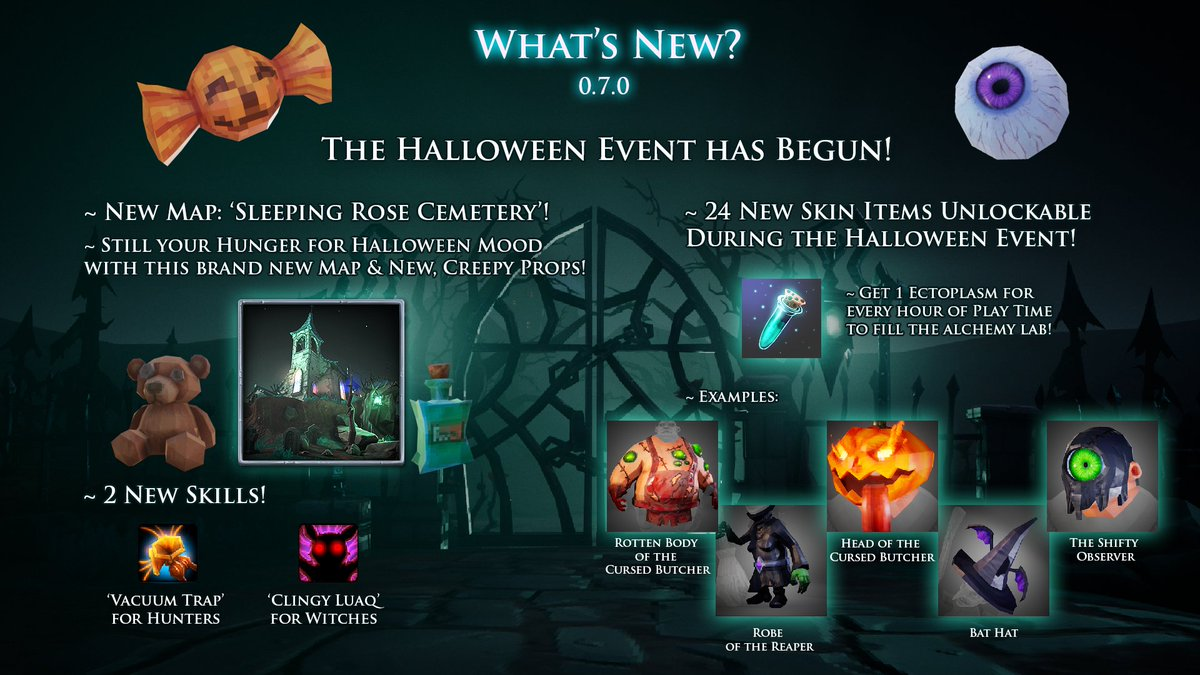 barrel roll games on twitter the witch it halloween event patch 070 is live check httpstcoenzmfvbjb8 for details