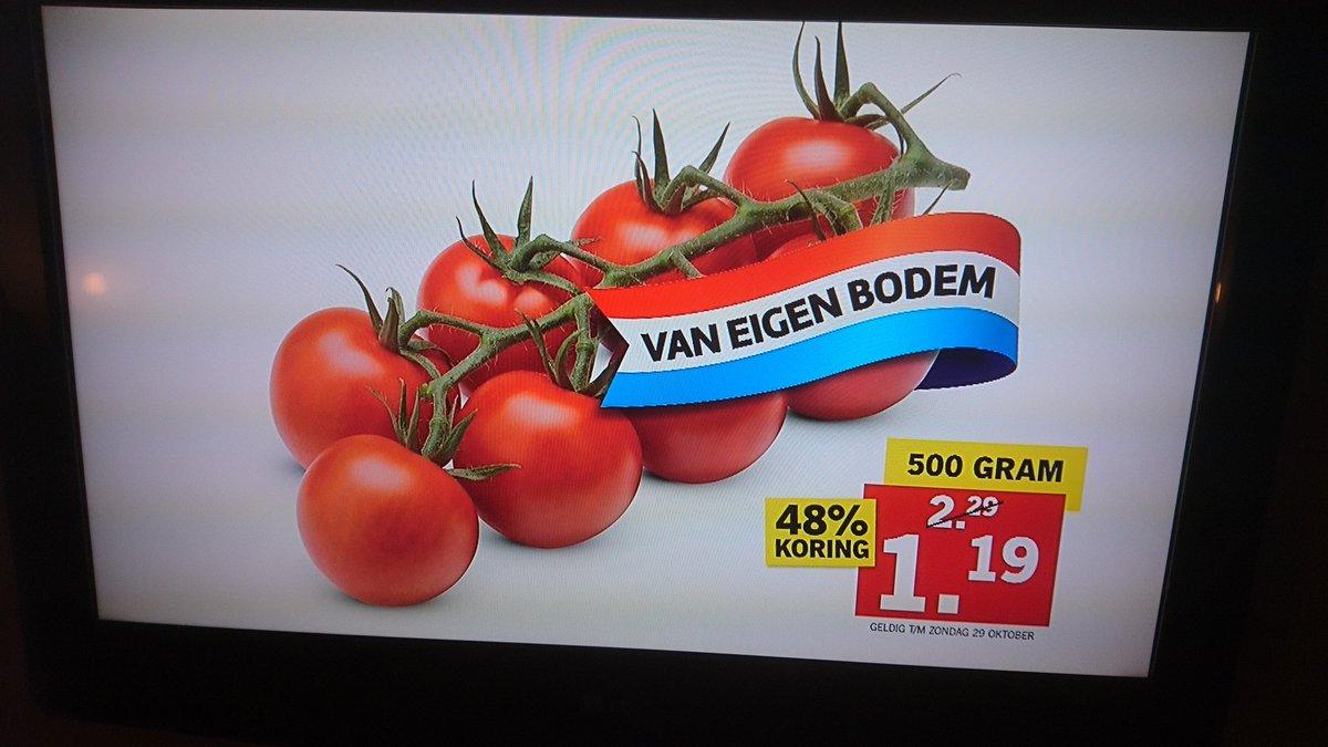 kom je als tomaat op tv.. met 48% uhhh be-koring? maar wel van eigen bodem! @LidlNederland @Taalvoutjes https://t.co/bGN5l4zzNl