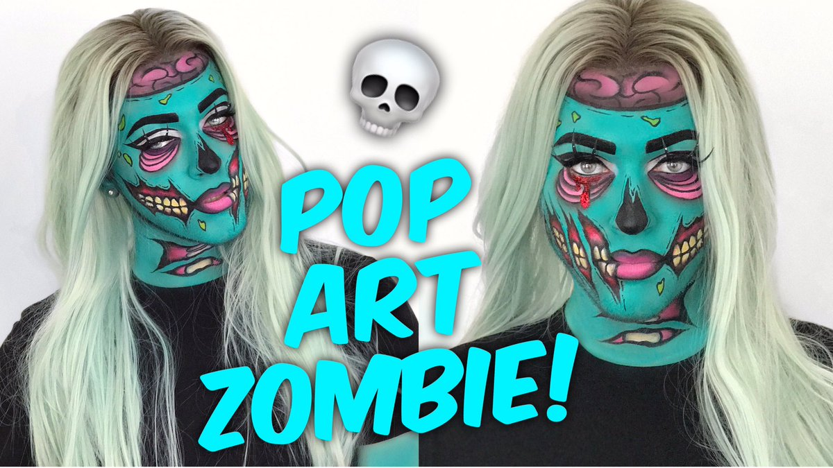 "Manny MUA on Twitter: ""POP ART ZOMBIE HALLOWEEN MAKEUP TUTORIAL IS NOW LIVE! YASSS BITCHHHH https://t.co/PksuFOwvEr 💀💀… """
