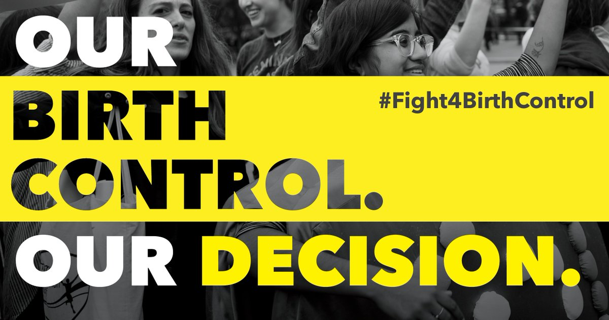 Tell President Trump: We DEMAND birth control coverage for ALL! https://t.co/3Cq7FFVLTS #Fight4BirthControl