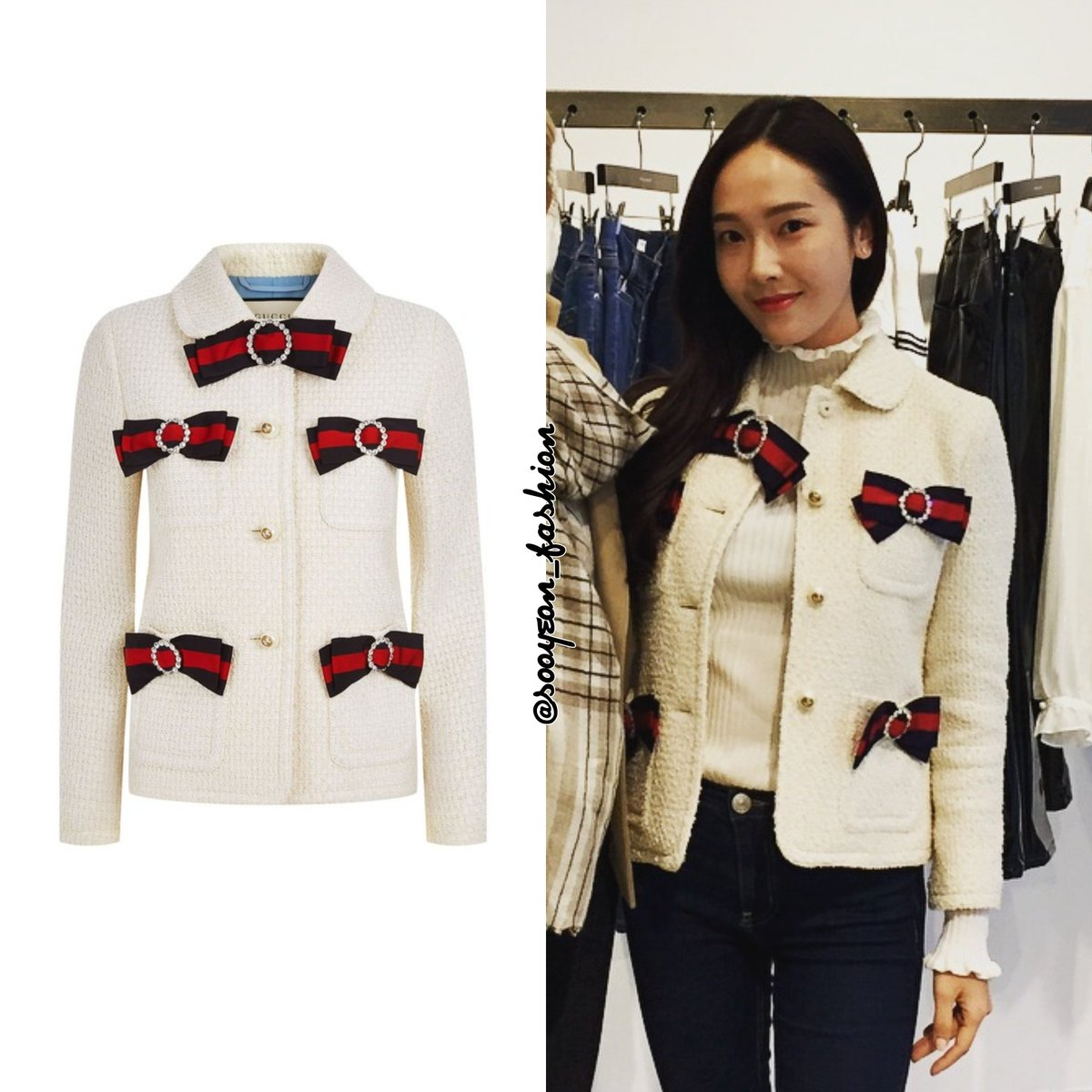 597ce5acb ... https://www.gucci.com/uk/en_gb/pr/women/womens-ready-to-wear/womens- coats-jackets/womens-jackets/tweed-jacket-with-web-bows-p-476264ZIM189103?position=  ...