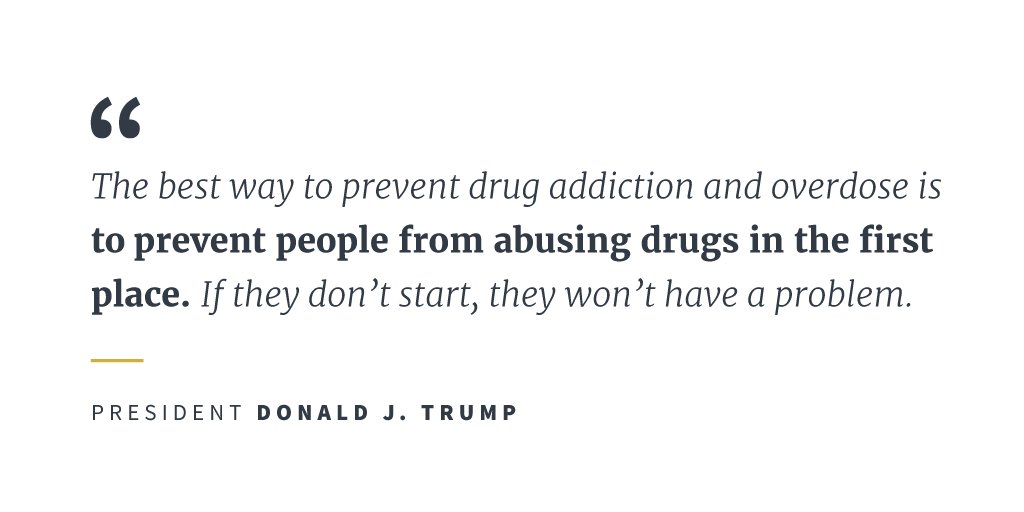 President Trump is taking action on drug addiction and the opioid crisis: https://t.co/MUN5o8mp9k https://t.co/I4Q9hfPC4B